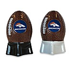 NFL Broncos Salt and Pepper Shakers