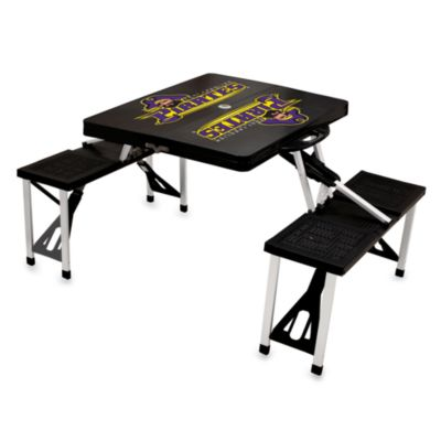 East Carolina University Fold-Out Picnic Table with 4 Bench Seats