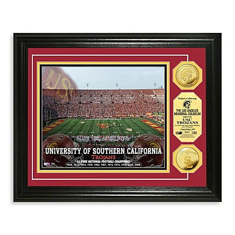 University of Southern California Gold-Plated Coin Photo Mint Frame