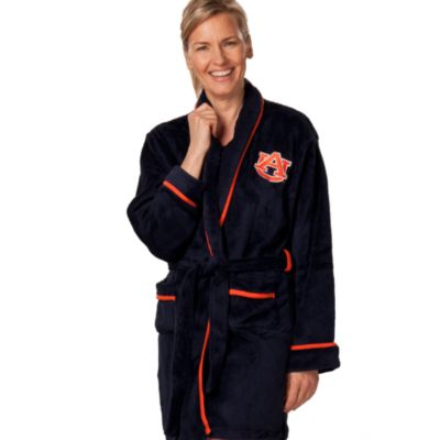 Auburn University Extra Large Ladies Fleece Bathrobe in Navy