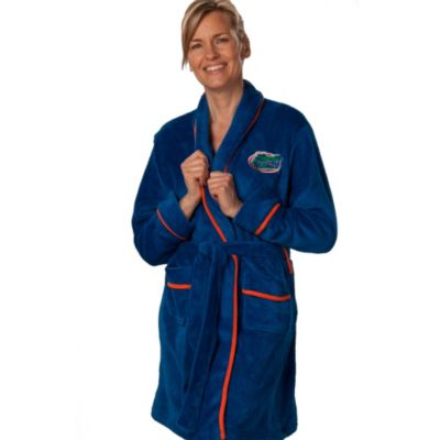 University of Florida Large Ladies Fleece Bathrobe in Blue