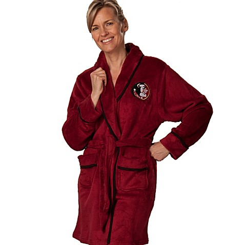 Florida State University Small Ladies Fleece Bathrobe in Garnet