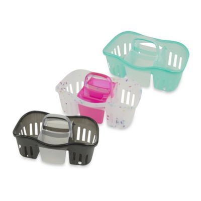 2-in-1 Interlocking Shower Caddy in Rainbow