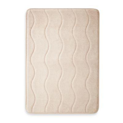 Home Inspirations 17-Inch x 24-Inch Memory Foam Promo Mat in Linen