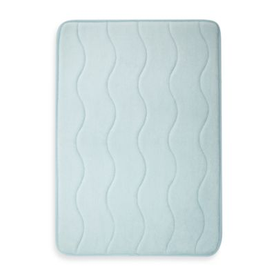 Home Inspirations 17-Inch x 24-Inch Memory Foam Promo Mat in Blue