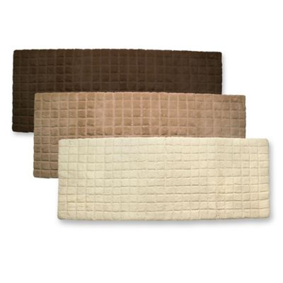 Ultra Spa by Park B. Smith® Desert Ridge 24-Inch x 60-Inch Bath Rug Runner - Ecru