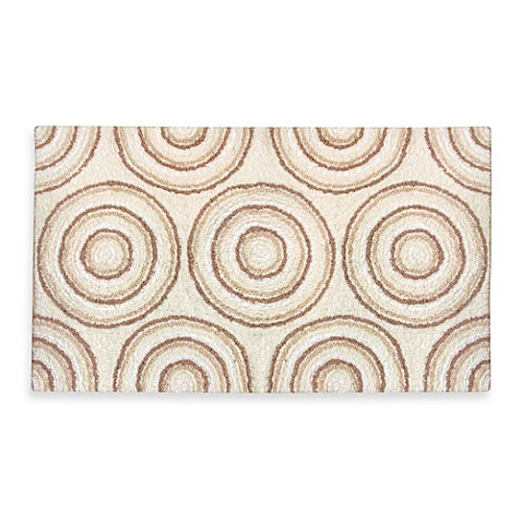 Ultra Spa by Park B. Smith®  20-Inch x 30-Inch Circles Bath Rug - Natural