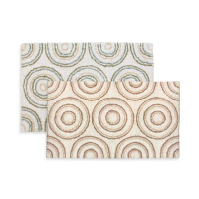 Ultra Spa by Park B. Smith® 24-Inch x 40-Inch Circles Bath Rug - Natural