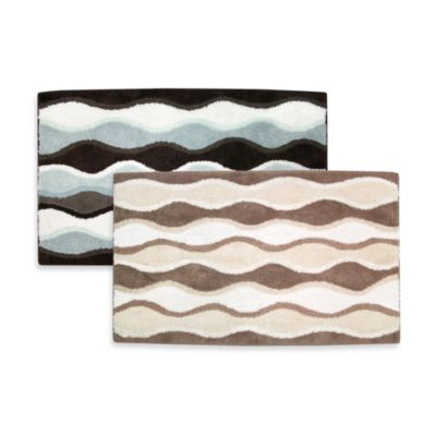 Ultra Spa by Park B. Smith® 24-Inch x 40-Inch Magic Plush Ripple Bath Rug - Mineral