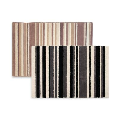 Ultra Spa by Park B. Smith® 20-Inch x 30-Inch Magic Plush Stripe Bath Rugs