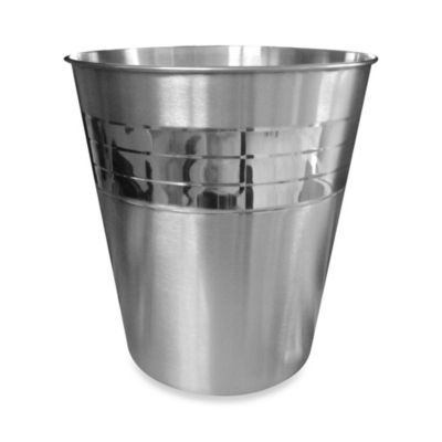 Pleated Stainless Steel Waste Basket