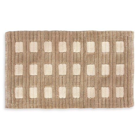 Park B. Smith® 20-Inch x 30-Inch Ridge Loop Block Bath Rug in Natural/Linen
