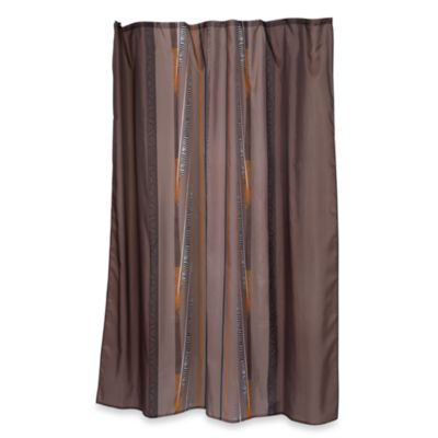 Buy Gray And Brown Shower Curtain From Bed Bath Amp Beyond