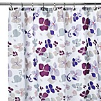 Carnation Home Fashions Joanne 108-Inch x 72-Inch Fabric Shower Curtain