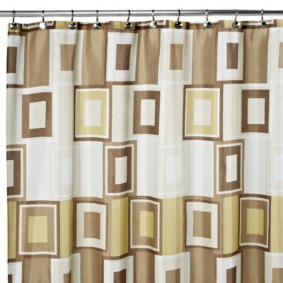 Contempo 108-Inch x 72-Inch Fabric Shower Curtain