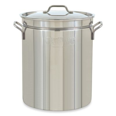 Bayou Classic 44-Quart Stock Pot with Vented Lid in Stainless Steel
