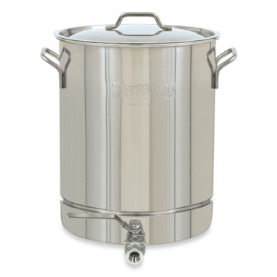 Bayou Classic® 32-Quart Stainless Steel Stockpot with Spigot and Vented Lid