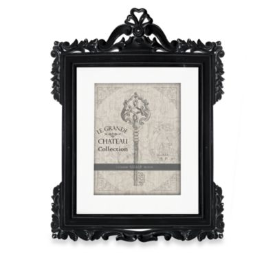 Natalia 8-Inch x 10-Inch Black Distressed Wood Frame