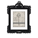 Argento Natalia 8-Inch x 10-Inch Black Distressed Wood Frame