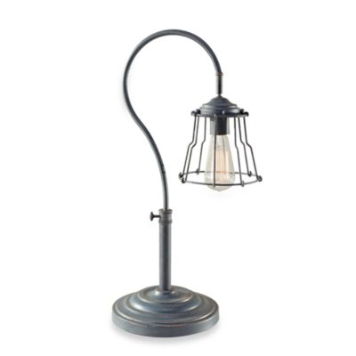 Feiss Urban Renewal Single Light 24.25-Inch Table Lamp in Antique Forged Iron