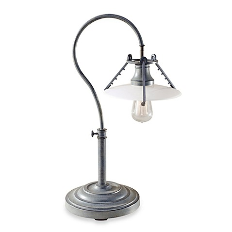 Feiss Urban Renewal Single Light 23-Inch Table Lamp in Weathered Zinc
