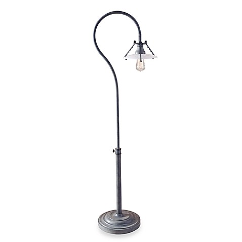 Feiss Urban Renewal Single Light 67.5-Inch Floor Lamp in Weathered Zinc