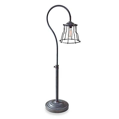 Feiss Urban Renewal Single Light 51-Inch Floor Lamp in Antique Forged Iron