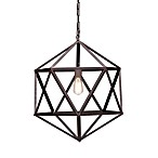 Zuo® Era Small Amethyst Ceiling Lamp in Rust