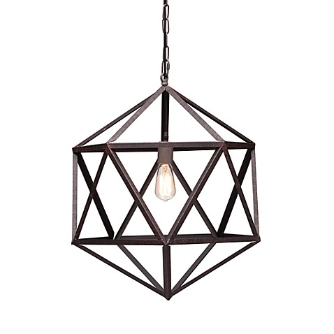 Zuo Era Small Amethyst Ceiling Lamp in Rust