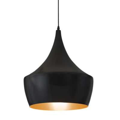 Zuo Era Copper Ceiling Lamp in Matte Black