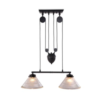 Zuo® Era Garnet Ceiling Lamp in Antique Black Gold