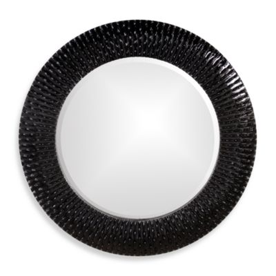 Howard Elliott Bergman 32-Inch Round Wall Mirror in Black