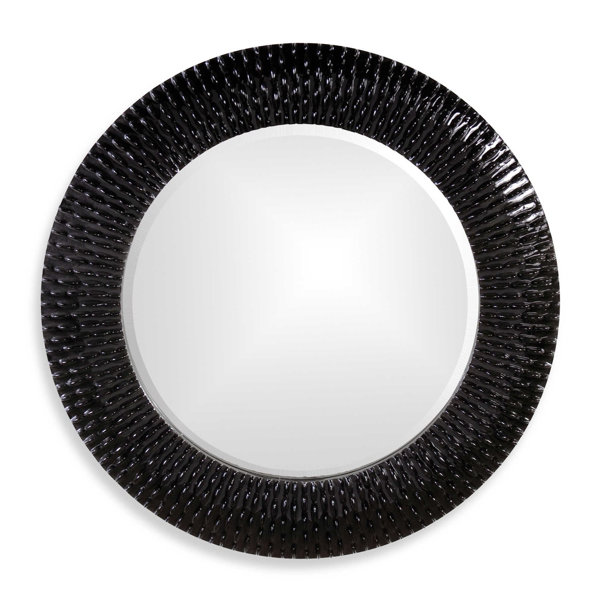 Black round mirror images for Round black wall mirror