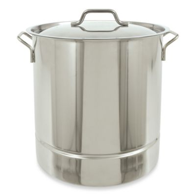 Bayou Classic 32-Quart Tri-Ply Bottom Stockpot with Vented Lid in Stainless Steel