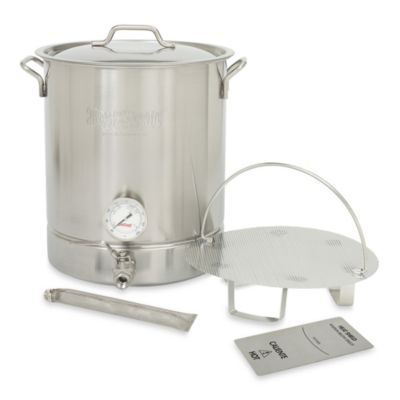 Bayou Classic 10-Gallon Premium Brew Kettle in Stainless Steel