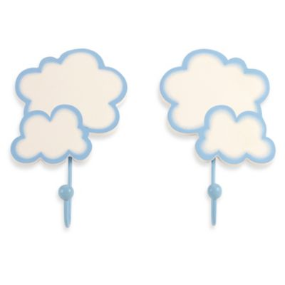 NoJo® Clouds 2-Pack Decorative Wall Hooks