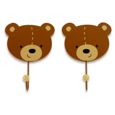 NoJo® Bear 2-Pack Decorative Wall Hooks