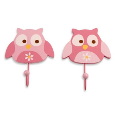 NoJo® Owls 2-Pack Decorative Wall Hooks