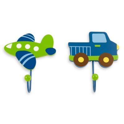 NoJo® Transportation 2-Pack Decorative Wall Hooks