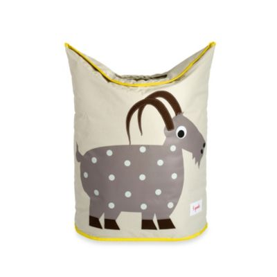 3 Sprouts Laundry Hamper in Grey Goat