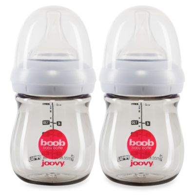 Joovy Boob 5-Ounce PPSU 2-Pack Baby Bottle in Grey