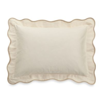Barbara Barry® Peaceful Pique Oblong Toss Pillow in Moonglow
