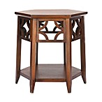 Safavieh Connor Bayur Wood Hexagon End Table