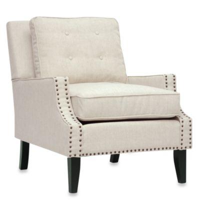 Baxton Studio Norwich Modern Lounge Chair in Beige