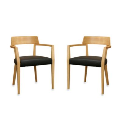 Laine Modern Dining Chair in Natural (Set of 2)