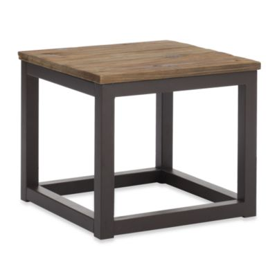 Zuo® Modern Civic Center Solid Elm-Top Side Table in Distressed Natural