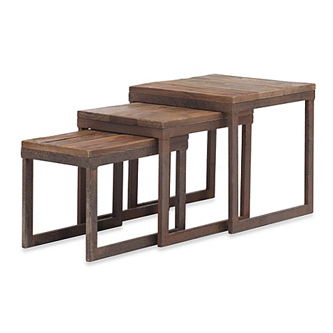Zuo Modern Civic Center 3-Piece Nesting Tables