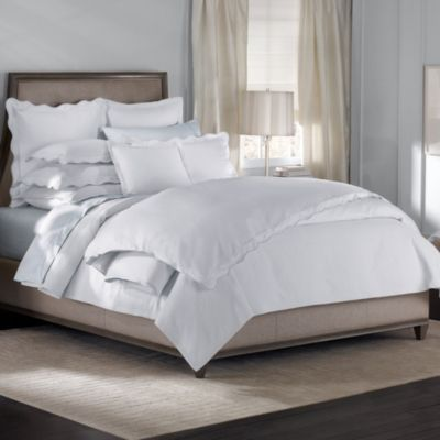 Barbara Barry® Peaceful Pique White Fountain Duvet Cover
