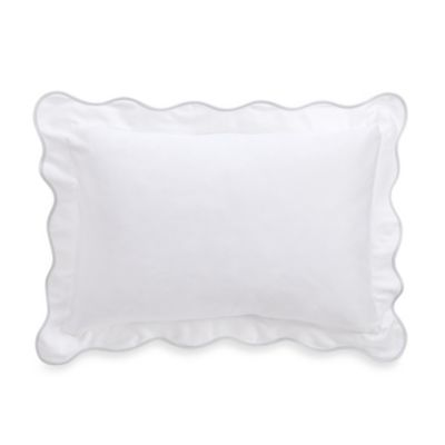 Barbara Barry® Peaceful Pique White Fountain Oblong Toss Pillow