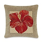 Panama Hibiscus Square Toss Pillow